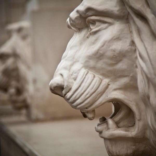 A_terra cotta lion