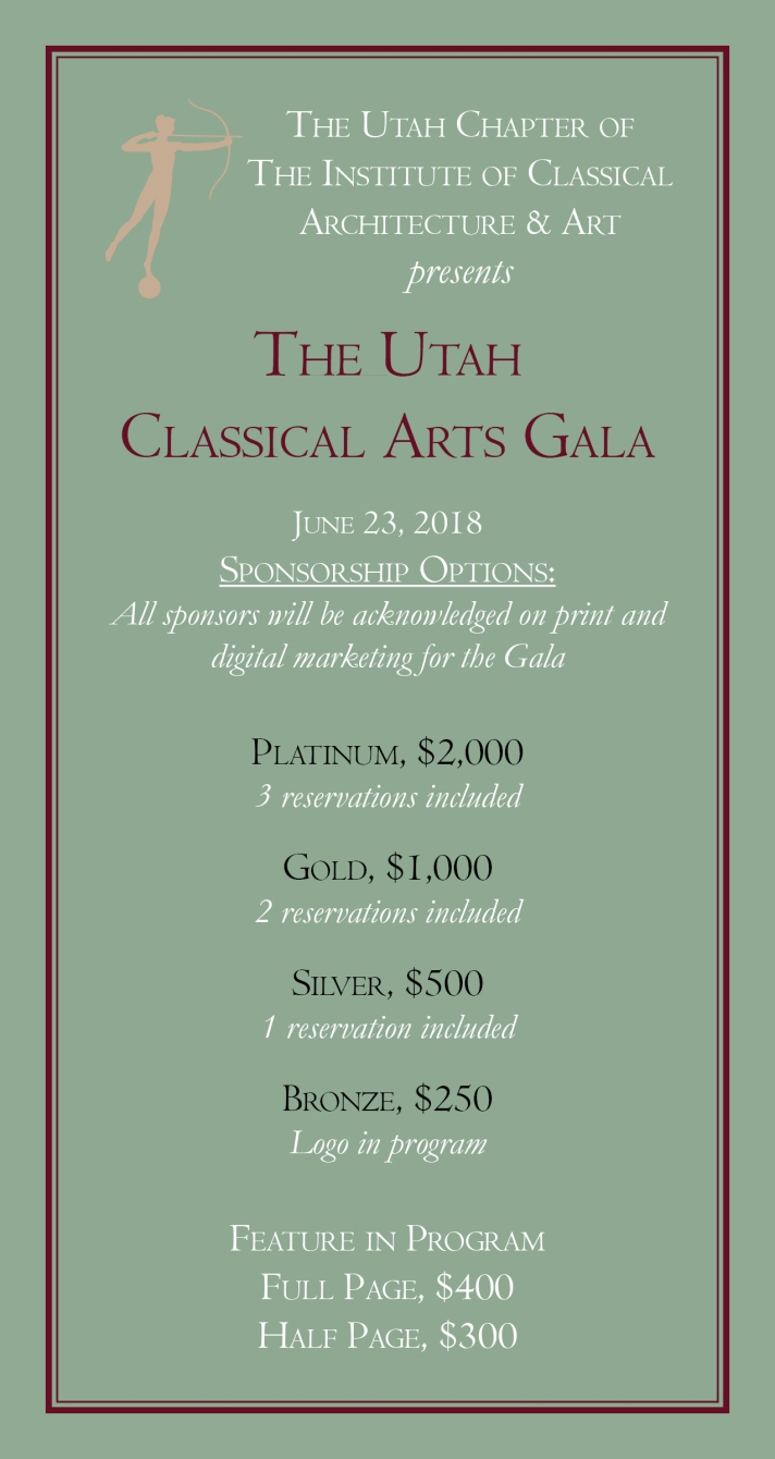 ICAA Classical Arts Gala Sponsorships