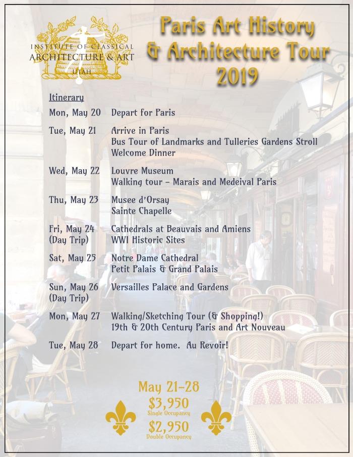 2019 Paris Itinerary